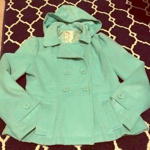 Mint pea coat
